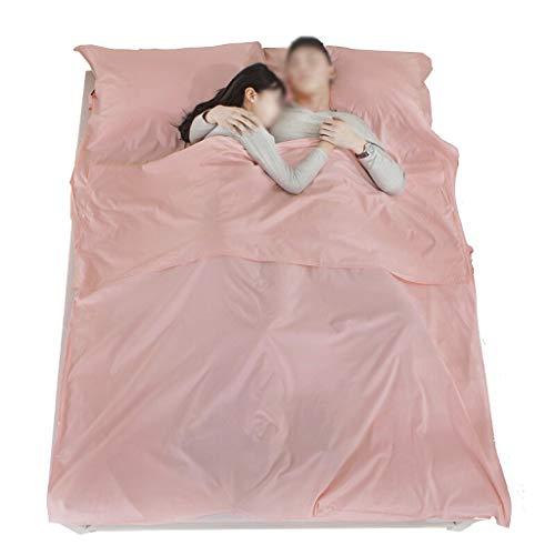 Doppelte Reise Hotel Baumwolle Schlafsack Anti-schmutzigen Schlafsack Portable Camping Ultraleicht (Color : Pink, Größe : 120 * 220cm)