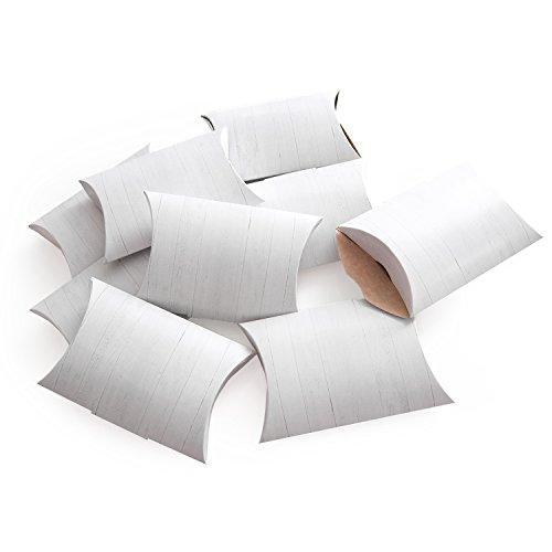 25 Stück kleine Geschenkboxen Geschenkschachtel in weißer Holz-Optik 14,5 x 10,5 + 3 cm als Verpackung für Gastgeschenke, Mitgebsel, give-aways, Kartons als Mini-Verpackung
