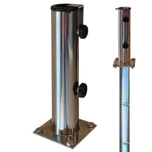 ProKIRA Sonnenschirmständer für Bodenmontage/für Schirmstöcke Ø 32-48 mm/Edelstahl