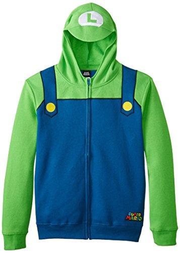 Nintendo Luigi Costume Zip Up Hoodie (Adult S)