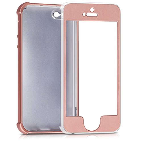 kwmobile Hülle für Apple iPhone SE / 5 / 5S - Backcover Case Handy Schutzhülle TPU Silikon - Back Cover Metallic Rosegold .Metallic Rosegold