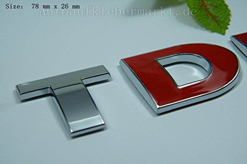 Preisvergleich Produktbild D324 TDI auto aufkleber 3D Emblem Badge top Plakette Abzeichen car Sticker mobil