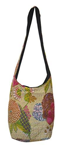 bag00279indio hecho a mano Kantha Trabajo algodón Fashion bolsas de hombro 12x 15pulgadas de regalo de San Valentín