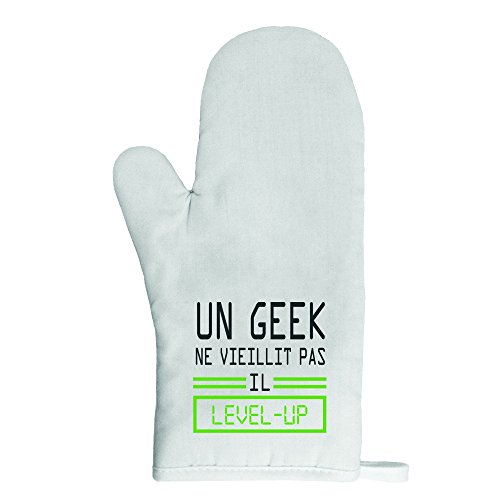 Mygoodprice Ofenhandschuh Topflappen Geek Level Up