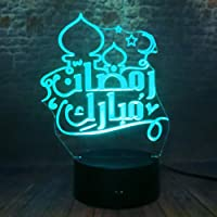 Baby Bedroom Sleep Light, Creative 3D Night Light Table Lamp Eid Ramadan Party Decor Friends Believers Gifts Gifts Children