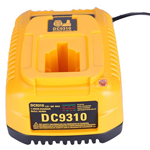Para Dewalt 7.2V - 18V NI-CD NI-MH Cargador de batería para DC9310 DW9116 DE9130 DW9096...