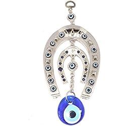 Wanddeko Wandschmuck Deko - Hufeisen mit einem blauen Auge Nazar Boncuk Evil Eye