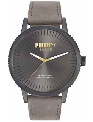 Puma Reloj Analógico para Hombre de Cuarzo con Correa en Cuero PU104101008