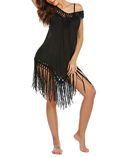 Balancora Damen Strandkleid Bikini Cover Up Strandponcho Sommer Bademode