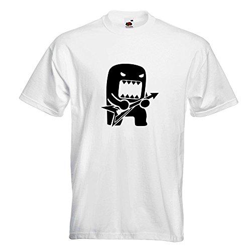 Kiwistar Rock Domo mit Gitarre T-Shirt in 15 verschiedenen Farben Herren Funshirt bedruckt Design Sprüche Spruch Motive Oberteil Baumwolle Print Größe S M L XL XXL Weiß