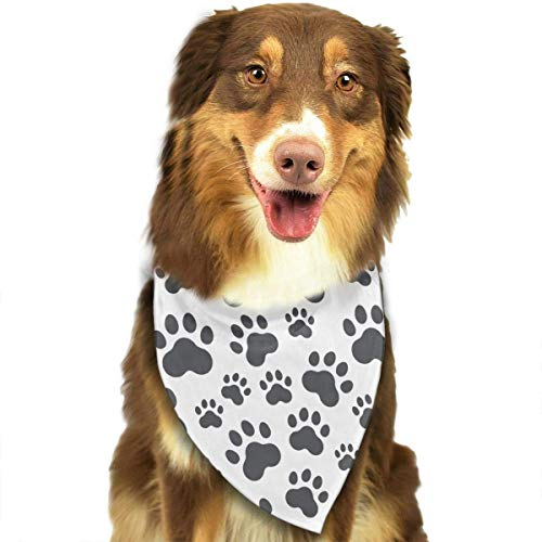 Sdltkhy Dog Paw Print Pet Dog Bandanas Triangle Bib Scarf Accessories for Dogs, Cats, Pets ()