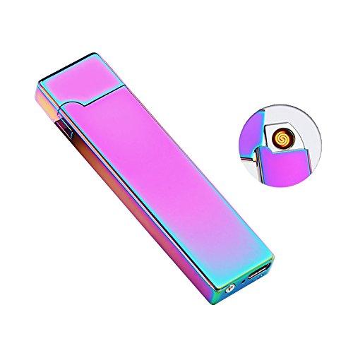 electronic-feuerzeug-fancyli-zigarettenanzunder-usb-wiederaufladbar-flammenlose-winddicht-ohne-gas-z