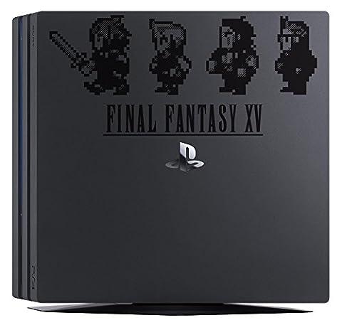 Sticker noir Final Fantasy XV pour PS4 pro noire