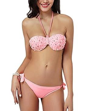 Costume da bagno delle signore Costume da bagno Beach Swimsuit Spa Costume da bagno bikini a forma di mano solida...