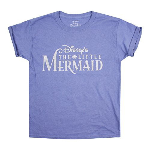 Disney logo, t-shirt bambina, purple (violet vio), 13-14 anni