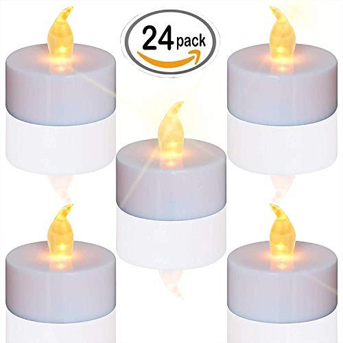 elektrisches teelicht LED Kerzen,24 Stück LED Teelichter Kerzen