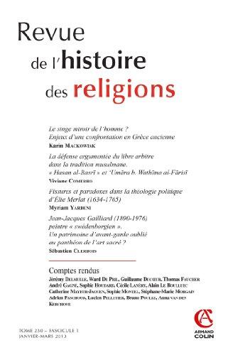 Revue de l'histoire des religions - Tome 230 (1/2013): Varia par Collectif