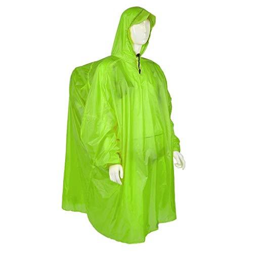 Preisvergleich Produktbild SCJ Regenmantel,  Erwachsener Rucksack Regenmantel Outdoor Wandern Reise Regenmantel Wasserdichter Poncho