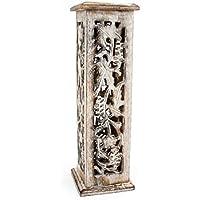 Räuchersäule Räucherturm Shrinagar aus Holz weiß gewachst, 31cm, Räucherstäbchenhalter Halter Räuchern Räucherstäbchen... preisvergleich bei billige-tabletten.eu