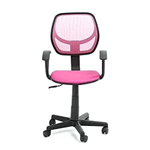 fabric computer chair uk. greenforest mesh office chair adjustable executive swivel computer desk chairs fabric pink: amazon.co.uk: kitchen \u0026 home uk