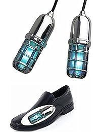 Esterilizador de zapatos con luz ultravioleta, elimina los malos olores y los hongos en las uñas, color plata