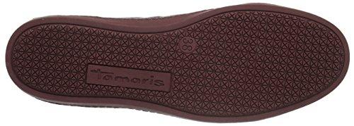 Tamaris 23606, Scarpe da Ginnastica Basse Donna Rosso (BOR.SNAKE COMB 560)