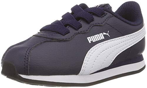 Puma Turin II AC Inf, Scarpe da Ginnastica Basse Unisex - Bambini, Blu (Peacoat White 03), 26 EU