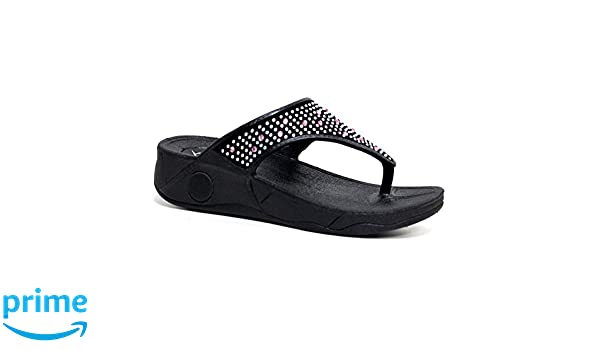 Dunlop Damen Zehentrenner Black Low