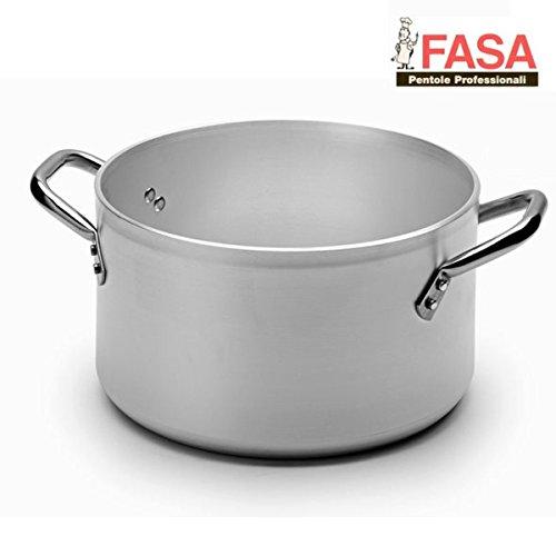 Fasa Tall Professional Two Handled Pot, Diameter: 40cm, 99.5% Pure Aluminium, Made in Italy