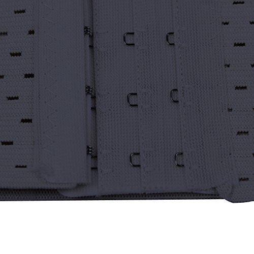 FeelinGirl Damen Korsett Tailenmieder Bauchweggürtel Corsage Corset Korsage Top (XXL, Schwarz ohne Stahl) - 5