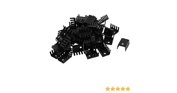 Kühlkörper Fingerkühlkörper mit 3 mm Loch Aluminium 19x14x10 schwarz 0050