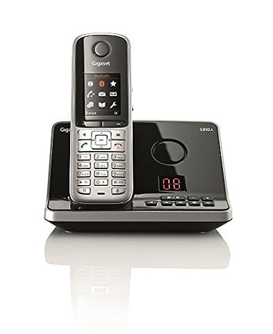 Gigaset S810A Dect-Schnurlostelefonmit Anrufbeantworter, stahlgrau