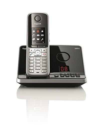 Gigaset S810A Dect-Schnurlostelefonmit Anrufbeantworter, stahlgrau Dect 60 Cordless Telefon