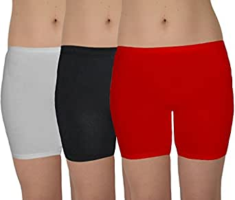 Selfcare Set of 3 Solid Women's Shorts