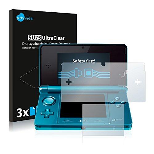 Savvies Nintendo 3DS Schutzfolie [6er Pack] - Folie Displayschutzfolie klar Displayfolie
