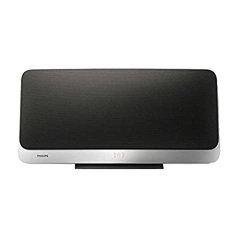 Philips BTB2470/10 Mini Stereoanlage mit Bluetooth (20 Watt, Multipair, DAB+, UKW, USB, Bassreflex) schwarz