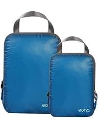 Amazon Brand: Eono Essentials Lot de 4/6 Organisateur Bagage Compressible de Valise, Organiseur Sac Rangement, Cube de Sac pour Voyage Maquillqage Vêtement