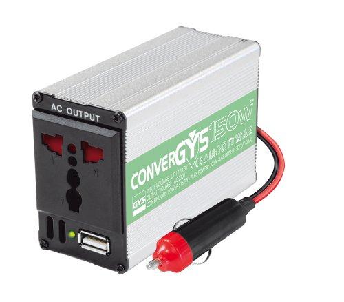 GYS Convergys 150Wechselrichter, 12-240V 150W Power Inverter mit 3-Pin-Buchse und USB-Anschluss 150 W Mobile Power Inverter