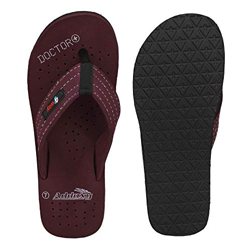 ADDOXY Doctor Extra Soft Ortho Care Slippers for Men (10, Cherry)