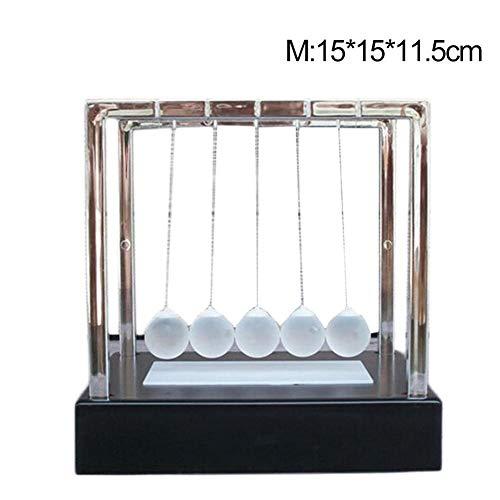 LED leuchten Newton Cradle Balance Balls, Newton Swing Glaskugel Wissenschaft Psychologie Puzzle Schreibtisch Spaß Spielzeug für Büro Dekoration