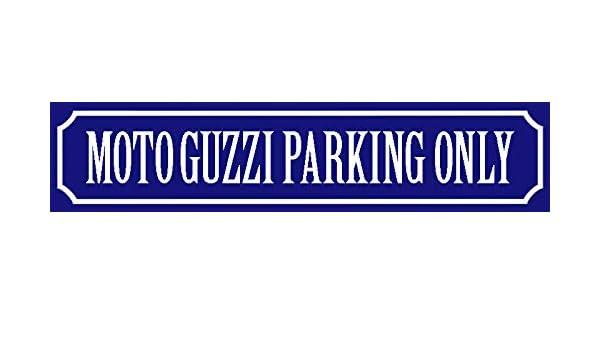 Schatzmix Plaque en t/ôle d/écorative Motif Moto Guzzi parking 46 x 10 cm