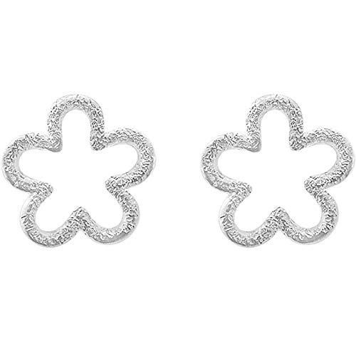 Ohrring Peeling Nette Blumen S925 Sterling Silber Ohrstecker Literarischen Schmuck Temperament Joker Einfache Accessoires Frauen - Peeling Net