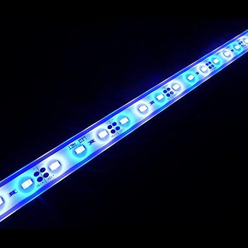LTRGBW SMD 5730 12V DC 12W LEDS acuario luces LED de iluminación de aluminio a prueba de agua - - blanco frío y azul de los pescados del tanque de Gaza de la lámpara (50 cm)