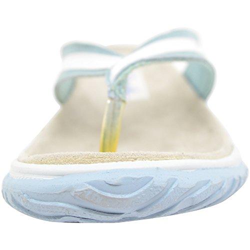 Mesdames/pour femme en daim en cuir véritable dété/vacances/plage Sandales/Tong/Chaussures Bleu - Bleu clair