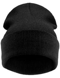 4sold (TM) Men's Women's Beanie Hat Winter Warm Black Bad Hair Day