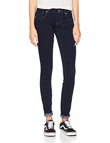 ONLY Damen Skinny Onldylan Low SK Push UP Jeans REA195NOOS, Blau (Dark Blue Denim), W27/L32 (Herstellergröße: 27) (Low-rise-skinny Leg-jeans)