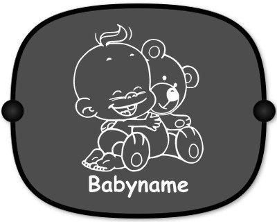 Preisvergleich Produktbild Windel Winni Sonnenschutz Auto Baby Kinder Sonnenblende mit Wunschtext - Motiv WW6 (großer Aufdruck)