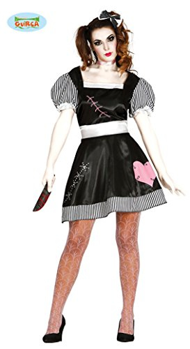Halloween Kostüm tote Puppe für Damen Puppenkostüm Damenkostüm Halloweenkostüm Doll Gr. M-L, Größe:L