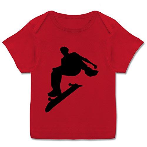 Skateboard-baby-kleidung (Sport Baby - Skater - 68-74 (9 Monate) - Rot - E110B - Kurzarm Baby-Shirt für Jungen und Mädchen in verschiedenen Farben)