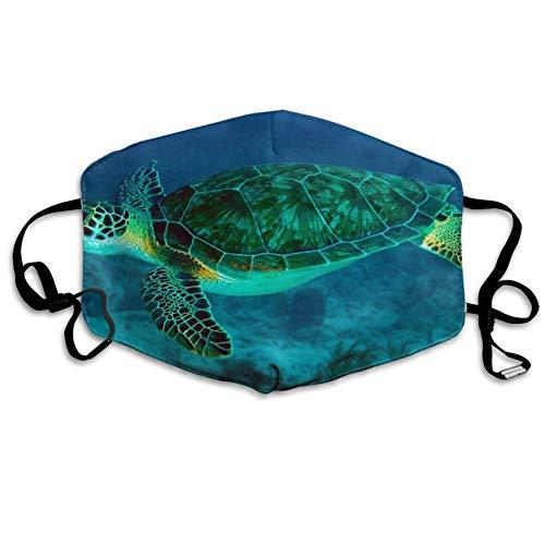 Louis Berry Staubmaske, wiederverwendbar, für Damen und Herren, Meeresschildkröten-Schwimmen, Mundmaske, Unisex